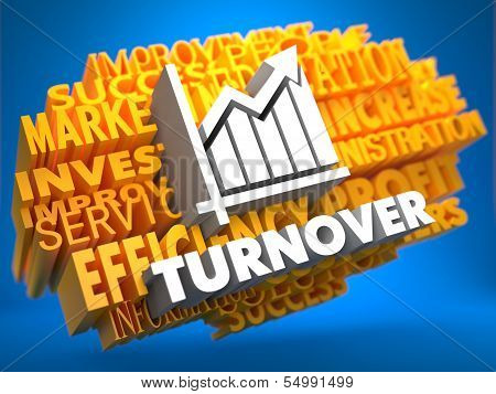 Turnover. Wordcloud Concept.
