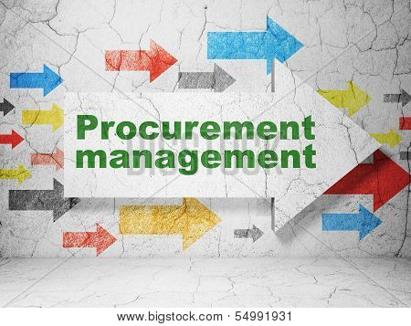 Finance concept: arrow with Procurement Management