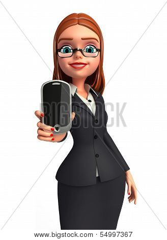 Young Business woman with mobile