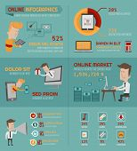 foto of economics  - Online shopping infographics elements  - JPG