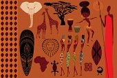picture of spears  - Africa - JPG