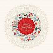 Vintage Christmas Greeting Card Background