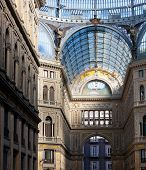 foto of cornerstone  - Umberto I gallery in the city of Naples italy - JPG