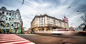 KHARKIV, UKRAINE - DECEMBER 01: Constitution Square in the city center after a recent overhaul on De