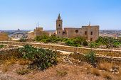picture of gozo  - The Cathedral of Gozo in the middle of the citadel in Gozo - JPG