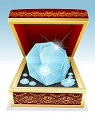 Big Brilliant Diamond In Gift Box