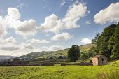 stock photo of swales  - Field barns at Gunnerside - JPG