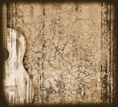 picture of bluegrass  - The musical background with an acoustic guitar - JPG