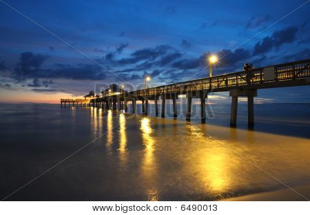 Fort Myers Pier At Sunset, Florida
