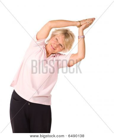 Mature Woman In Yoga Position