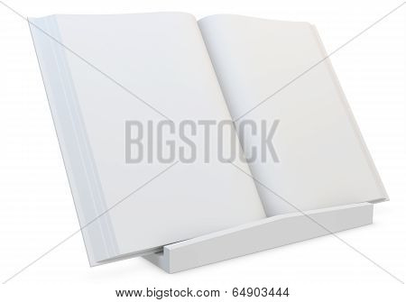 3D  Blank Book With Stand