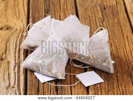 fruit tea in cellulose tea bags