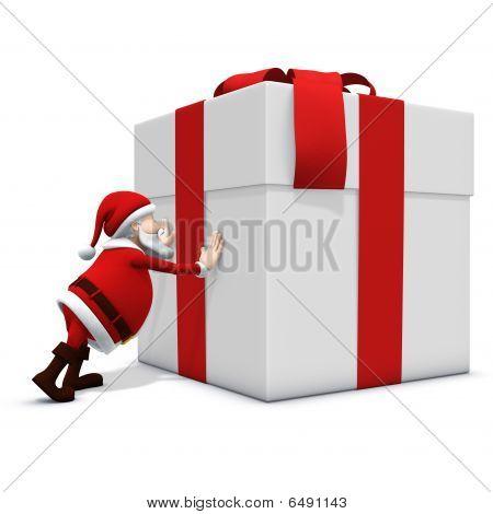 Santa Pushing Hard