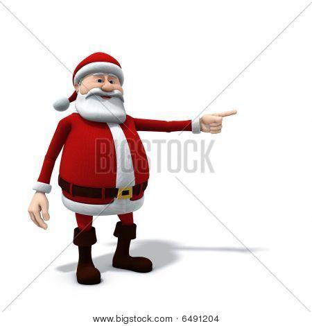 Santa Pointing Left