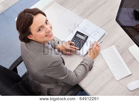 Happy Female Accountant