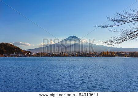 Mt. Fuji at Lake Kawaguchiko in Japan