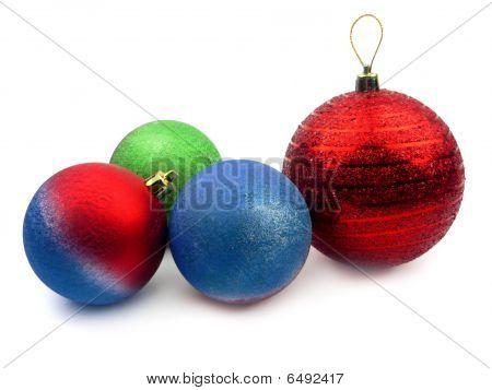 Five Christmas Balls