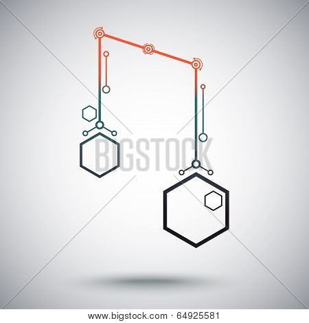 Two Connected Cells Gradient