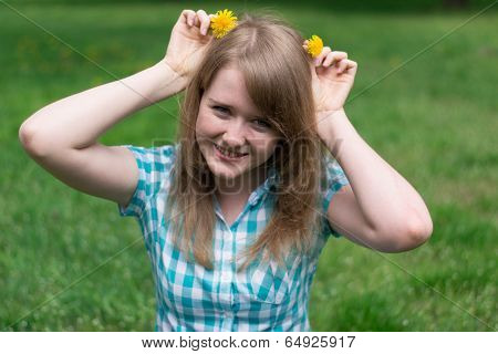 Girl With Dandelions