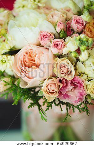 Gentle Bouquet. Instagram Effect, Vintage Colors.
