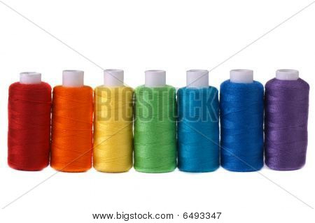 seven spools rainbow colors