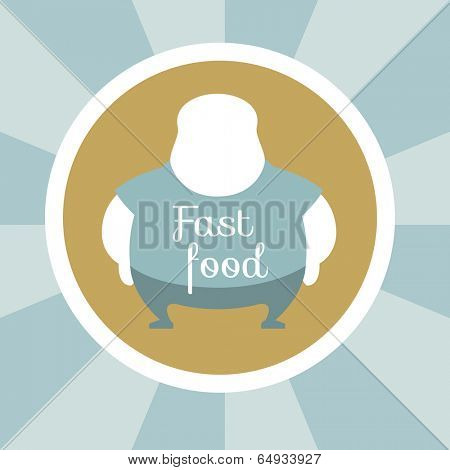 Flat Design. Fast Food Illustration. Vector Graphics EPS 10.