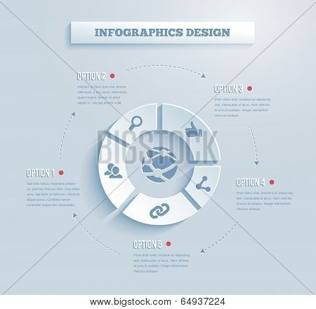 Vector paper infographics icon
