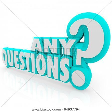 Any Questions 3d letters learning lecture class training