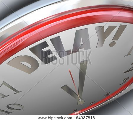 Delay word clock running late missed deadline