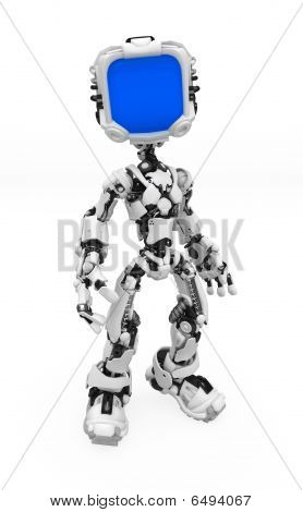 Blue Screen Robot, Isolated