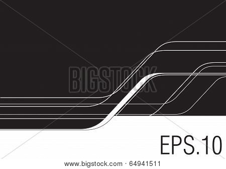 Abstract Background With Curvy Lines