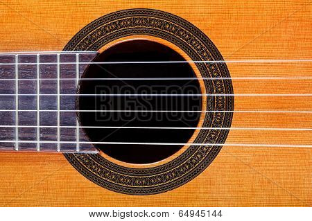 Sound Hole With Rosette Inlay Of Guitar