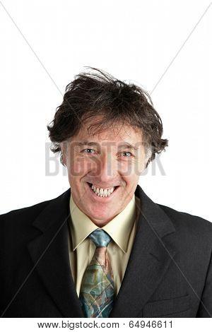 Satisfied buisness man smiling