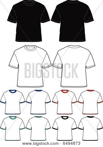 Men's t-shirt template