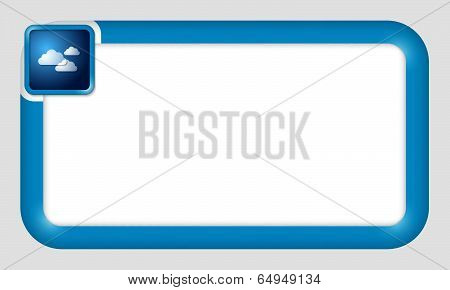 Vector Frame For Text Insertion With Clouds