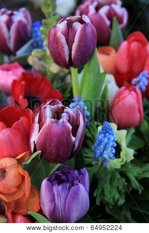 Spring Bouquet In Bright Colors