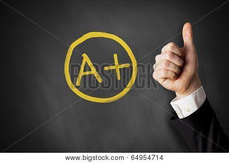 thumb up a+ grade