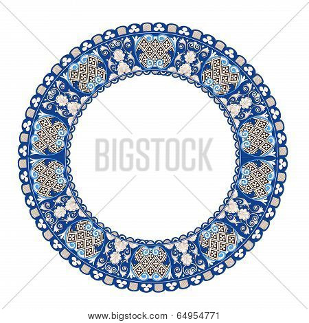 Pattern in antique byzantian style, circle