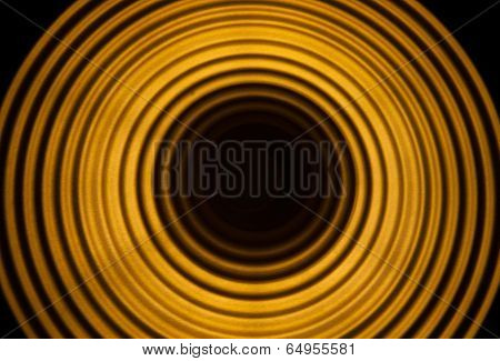 Abstract Yellow Resonance Wave Background