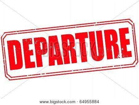 Departure Stamp