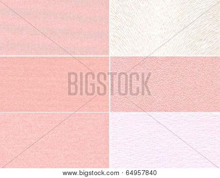 Set Of Pink Granular Textures