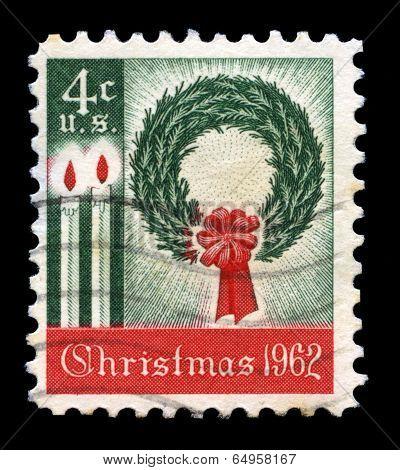 Christmas 1962 Us Postage Stamp