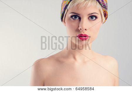 Beautiful young retro woman