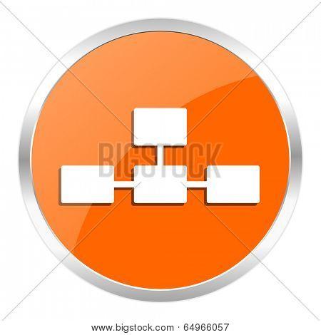 database orange glossy icon