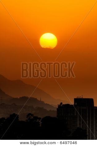 Landscape Of City Sunset