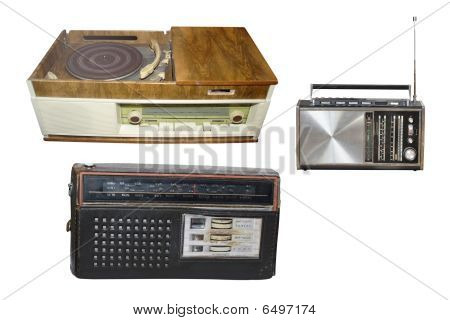 Retro Radio And Disk Players