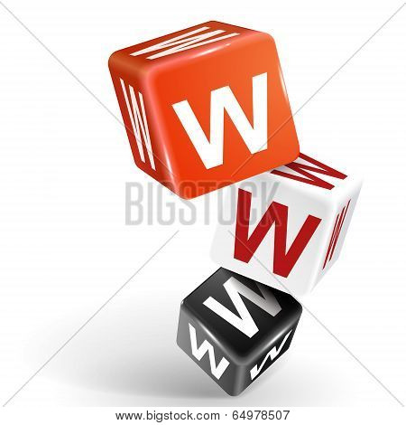 3D Dice Illustration With Word Www