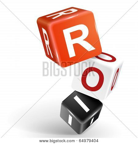 3D Dice Illustration With Word Roi