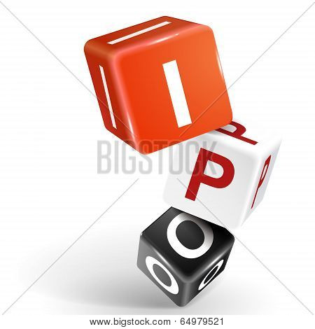 3D Dice Illustration With Word Ipo
