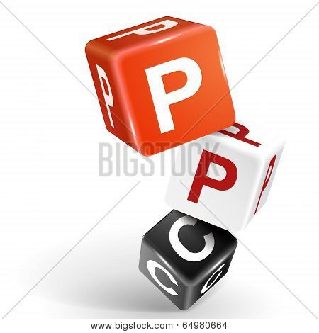 3D Dice Illustration With Word Ppc